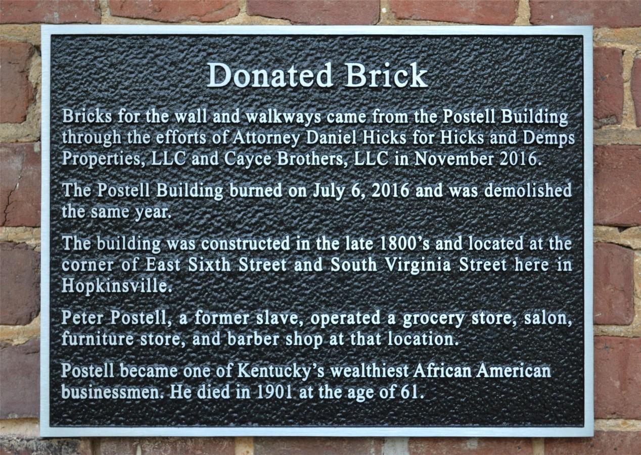 Donated Brick - Jeffers Bend